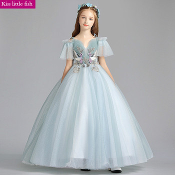 Free Shipping New  Flower Girls Dresses for Party and Wedding  Girls Dress Long  Girls Gowns Floor Length