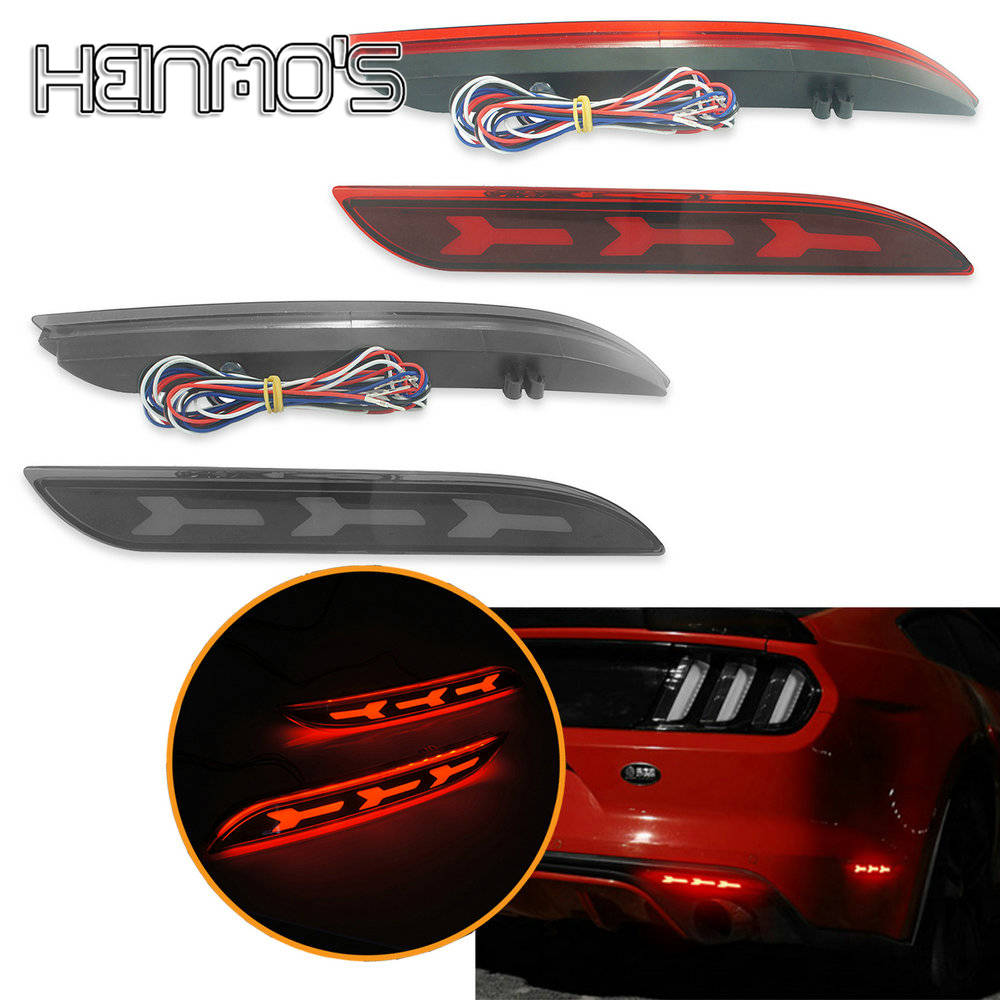 For Ford <font><b>Mustang</b></font> <font><b>2015</b></font> 2016 <font><b>LED</b></font> Tail Lights For Ford <font><b>Mustang</b></font> <font><b>2015</b></font> Rear Bumper <font><b>LED</b></font> Tail Lights For Ford <font><b>Mustang</b></font> 2017 Accessories image
