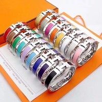 silver hot sale 17 colors of numbers and letters H classic bracelet rainbow H bracelets for women YF009TXK