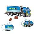 163 шт. DIY транспорт  самосвал  грузовик  сборные игрушки  маленькие частицы  строительные модели  блоки  Ранняя развивающая игрушка для детей