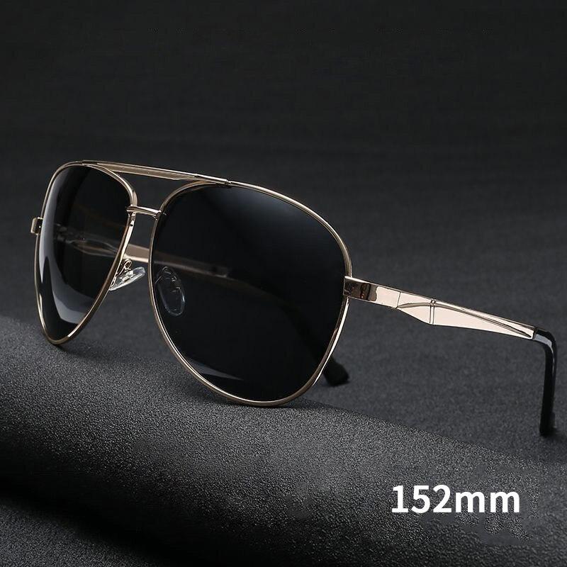 Поляризационные солнцезащитные очки для мужчин, большие размеры, пилот, солнцезащитные очки для мужчин, фирменный дизайн, широкое лицо