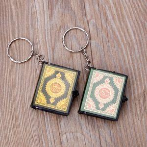 Image 2 - מיני ארון קוראן ספר נייר אמיתי יכול לקרוא ערבית הקוראן Keychain תכשיטים מוסלמיים