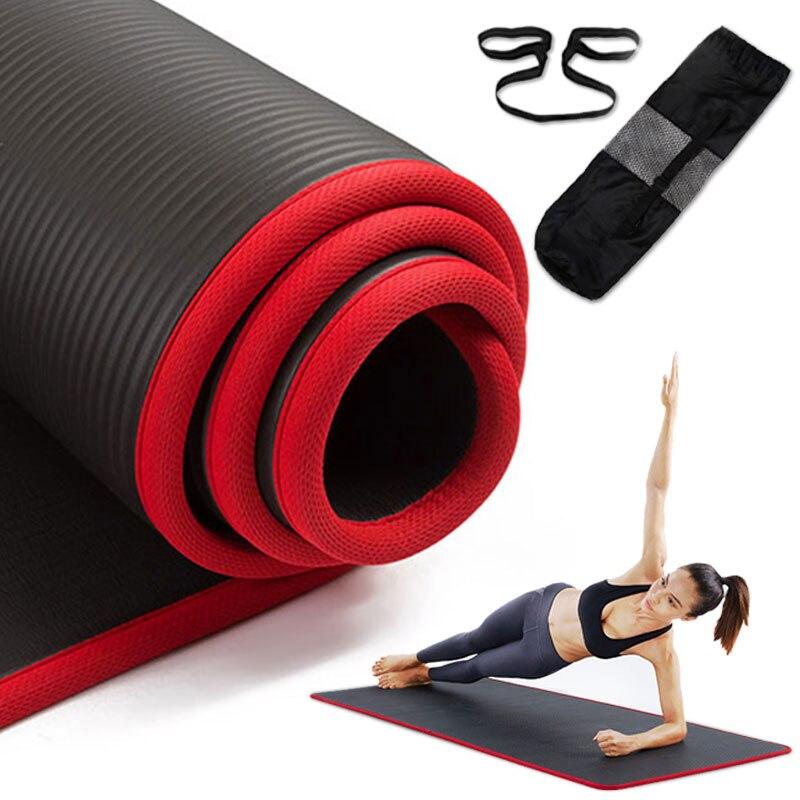 10 мм нескользящий коврик для йоги 183 см 61 см утолщенные NBR коврики для тренажерного зала спортивные комнатные коврики для фитнеса пилатеса й...
