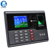2.8inch TCP/IP USB Biometric Time Attendance System RFID Fingerprint Reader Employee Check in Time Clock Record Machine A C121
