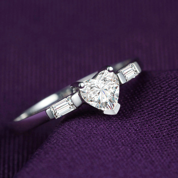 Genuine Heart Shaped Diamond Ring  3
