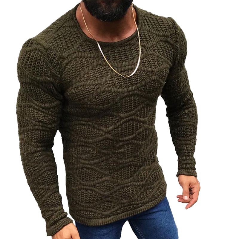 Lunoakvo 2019 Warm Sweater Women Fashion Solid O-Neck Slim Fit Sweaters Male Autumn Long Sleeve Winter Plus Size Mens Clothing