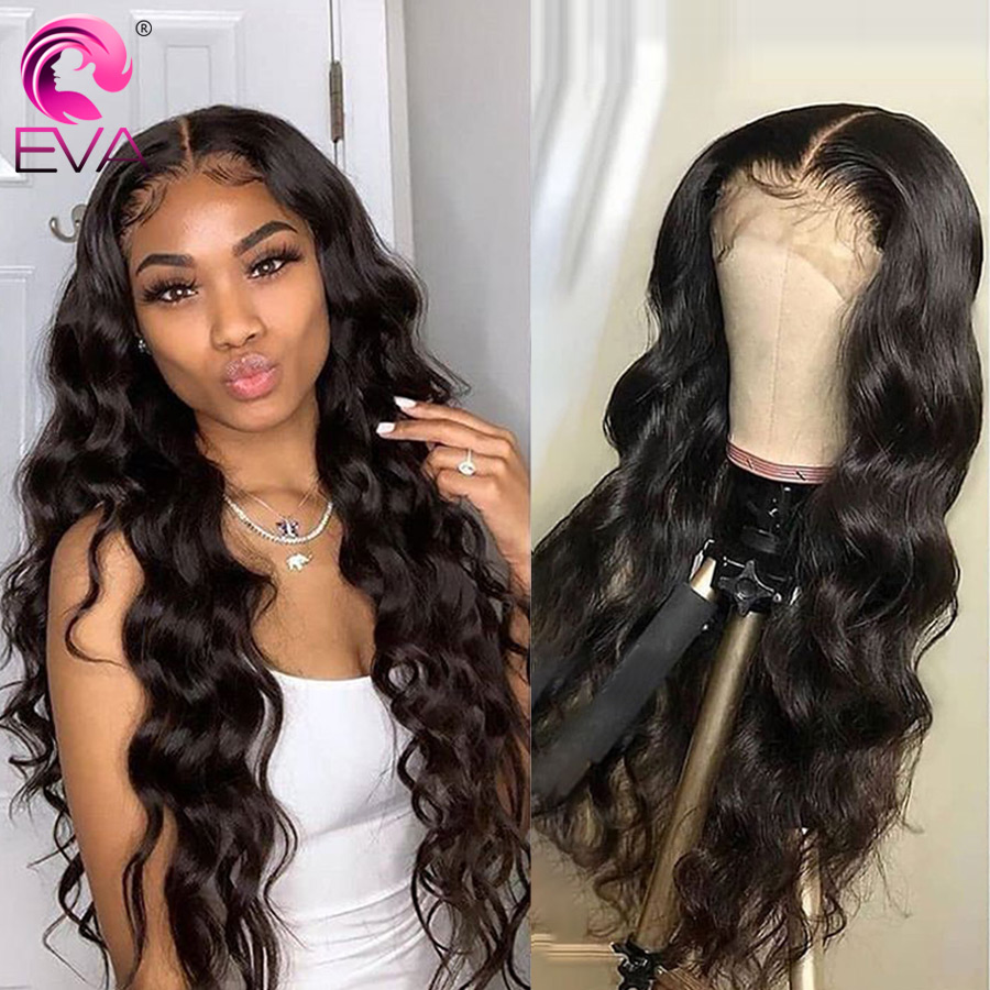 Eva Body Wave Lace Front Human Hair Wigs For Black Women Glueless Lace Front Wigs Pre Plucked With Baby Hair Brazilian Remy Hair