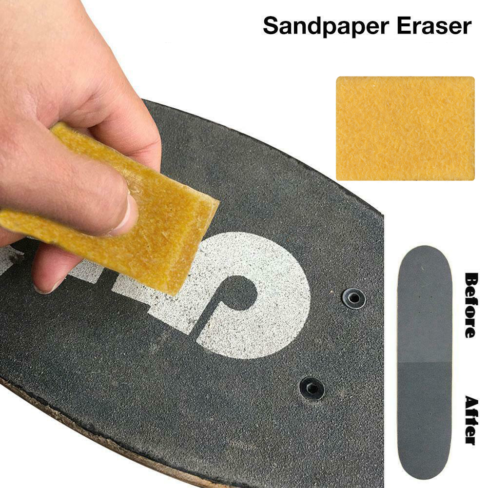 10pcs Home Practical Sandpaper Cleaner Griptape Eraser Portable Reusable High Performance Long Board Cleaning Sponge Easy Apply