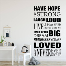 keep calm and dream on quote wall stickers vinyl home decor living room bedroom door decals removable art mural wallpaper 3b05 Home House Rules Vinyl Lettering Wall Decals Living Room Home Decor Family Stickers Dream Big Loved Quote Art Wall Sticker