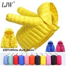 Chaqueta de bebés niños de 1 a 12 años, Parka ligera con capucha para niños y niñas, chaqueta de plumón pato, ropa de abrigo para niños pequeños para primavera y otoño
