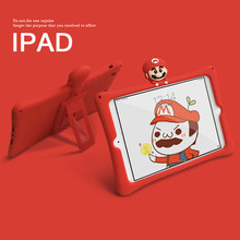 Cute Cartoon Red Kids Case for IPad Pro 9.7 2018 2017 9.7 Air 1 2 for Ipad Mini 1 2 3 4 7.9inch Silicon Stand Cover Funda Case for ipad air 2 case kids cartoon 3d protective cover for ipad air funda for ipad 2017 2018 cover capa for ipad pro 9 7 case