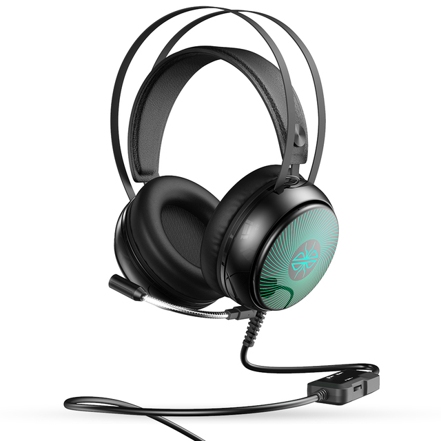 DACOM GH08 Gaming Headset 3.5mm Wired Gamer Headphone with LED Light HD Mic Stereo Sound for PC Computer Phones Laptop PS4 X-BOX