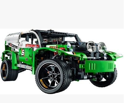 New Products DECOOL 3364 Building Blocks Science And Technology Green Le Mans 24 Hours All-Weather Equation Race Car Assembled 4