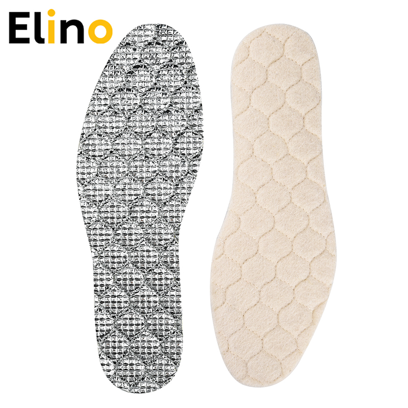 Warm Fleece Cashmere Soft Wool Thermal Insoles Winter Shoes Inserts Pads Size