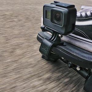 Image 5 - Motocicleta skate guiador girar braçadeira suporte de montagem titular para gopro