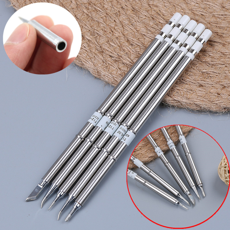 T12 BC2/J02/JL02/KR/ILS Soldering Iron Tips For Soldering Rework Station Replacement 1/64 ETS Tip WES50/WES51 900M-T-SI
