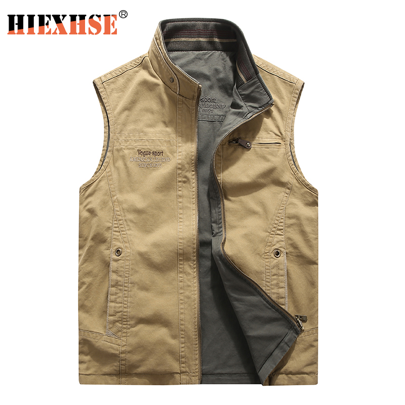 Men Military CLothing Waistcoat Army Tactical Many Pockets Vest Sleeveless Jacket Reporter Waistcoat