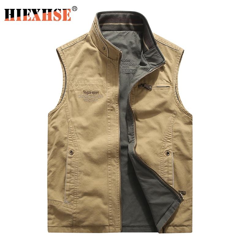 Men Military CLothing Waistcoat Army Tactical Many Pockets Vest Sleeveless Jacket Reporter Waistcoat