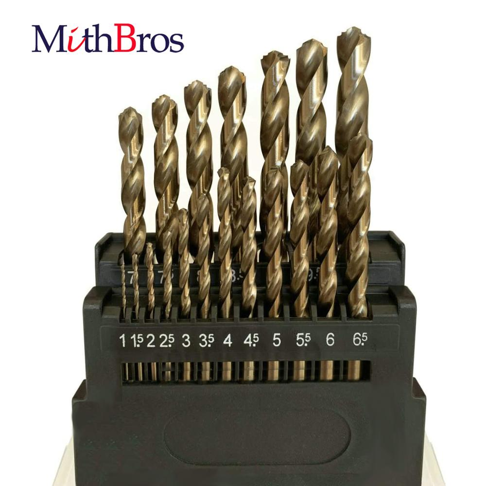 MithBros M42 HSS Twist Drill Bits Set 8% Cobalt Twist Drill Bits Set for Stainless Steel, Hard Metal and Wood Drilling
