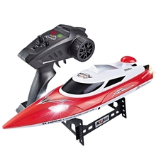 HONGXUNJIE Remote Control Boat Speedboat High Speed Yacht Toy Large Capacity Lithium Battery Night Light