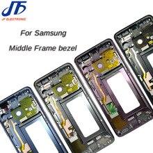Con 1 Samsung Galaxy S9 + S9 Plus G960f G965F Nhà Ở Màn Hình LCD Hiển Thị Trung Khung Midframe Ốp Viền Khung Xe Đĩa