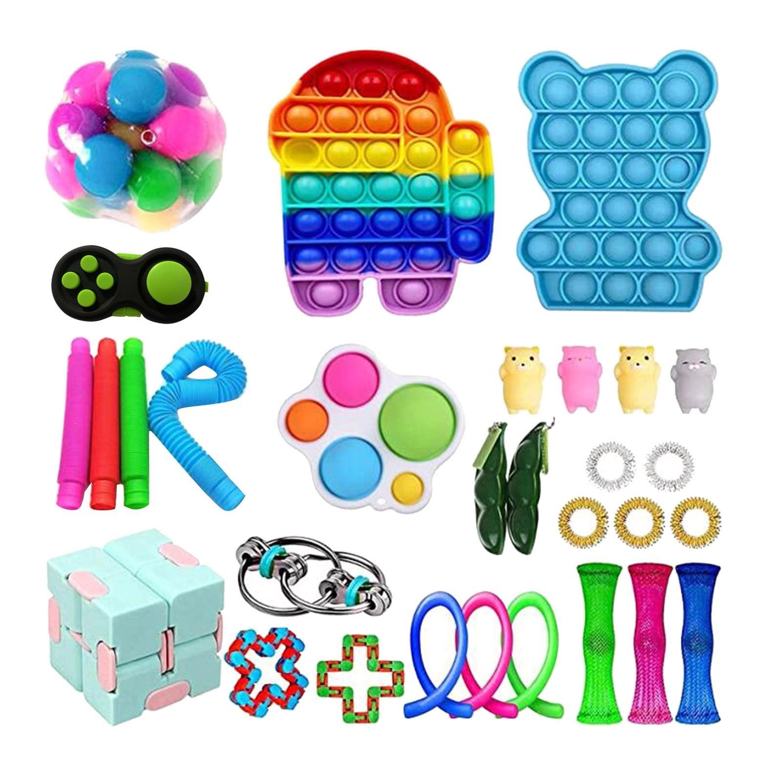 20-35 шт./компл. пуш-ап поп-пузырь сенсорная игрушка для аутистов потребности мягкие игрушки для снятия стресса Смешные анти-стресс вытолкнуть...