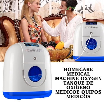 Portable Oxygen Concentrator Generator with Nasal Cannula Homecare Medical Machine Travel Use