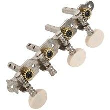 Машины тюнеры Колки для настройки ключа с белой жемчужиной ручки 4L+ 4R для мандолина