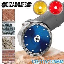 Turbo – lame de scie à disque en diamant pour meuleuse d'angle, pour la coupe de la porcelaine, des carreaux, de la céramique, du granit et du marbre, 105/115/125mm