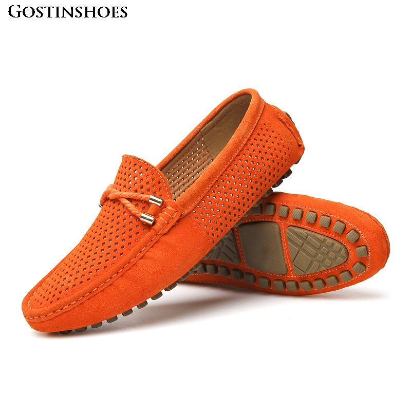 Summer Men Shoes Casual Luxury Moccasins Homme Mens Penny Loafers Suede Leather Slip On Zapatos Men