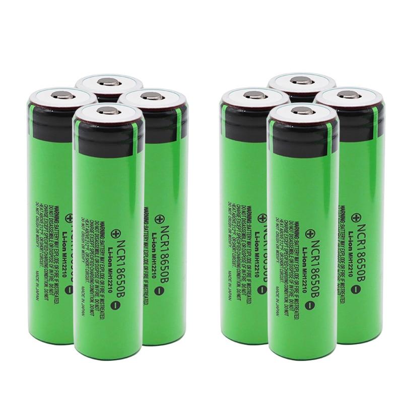 Литий-полимерный аккумулятор 3,7 в, 18650 Оригинальная Аккумуляторная батарея 3400 мАч, литиевые аккумуляторы NCR18650B для игрушек, фонариков