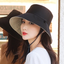 Hats Bucket-Hat Foldable Double-Side Cotton Fishing Women Summer Hunting-Cap Outdoor-Sunscreen