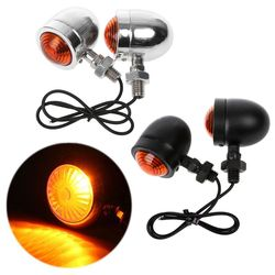 1 para wskaźnik kierunkowskazu motocykla bursztynowy motocykl migacz reflektor 12v lampka kontrolna kula Chrome      -