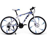 24/26 Inch Mountainbike 21/24/27/30 Speed Variabele Snelheid Dubbele Shock Volwassen Student Off-Road Racing