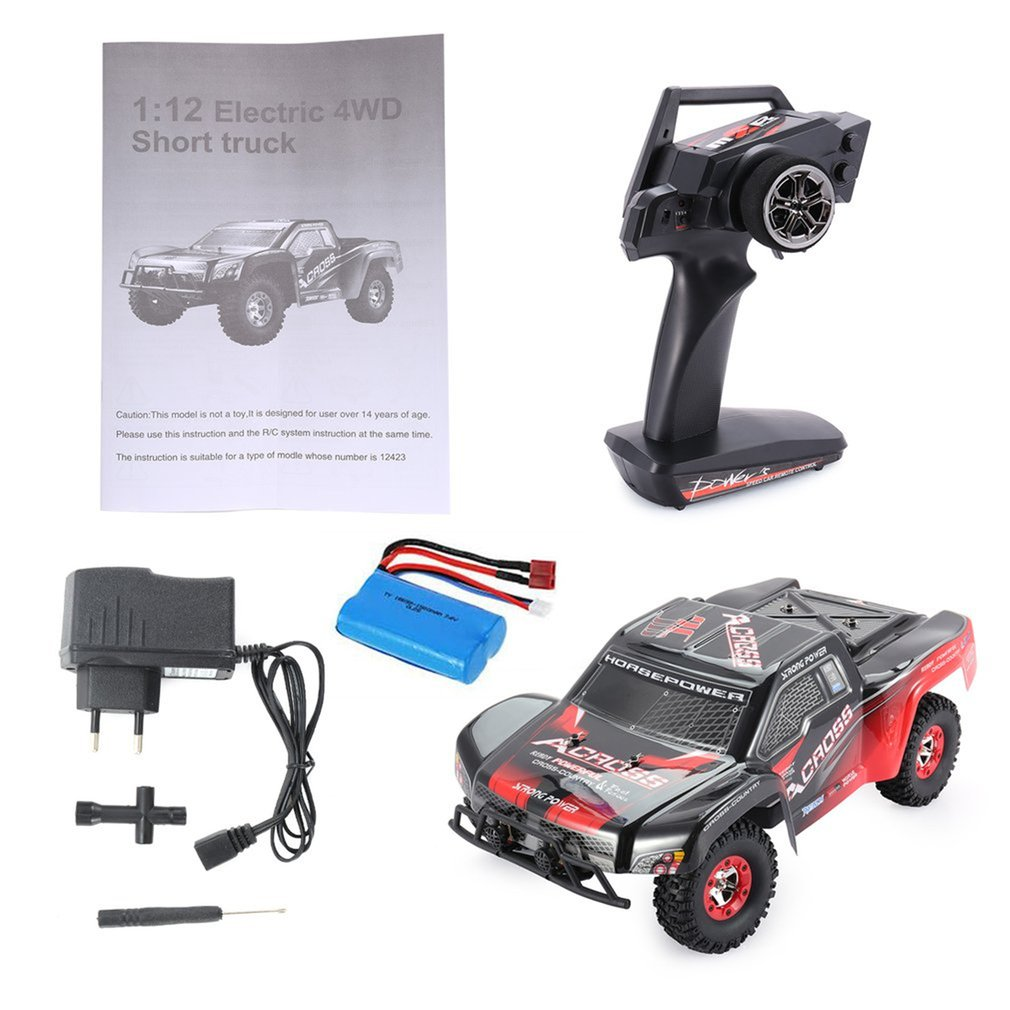 Hot Wltoys Buggy Vehicle12423 1/12 2.4G 4WD High Speed Electric Brushed Short Course Off-Road RTR RC Car With LED Light