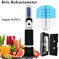 Рефрактометр Brix 0 ~ 32%  Розничная коробка  оптический измеритель содержания сахара в пище  алкогольных напитков  ATC  ручной инструмент  скидка ...