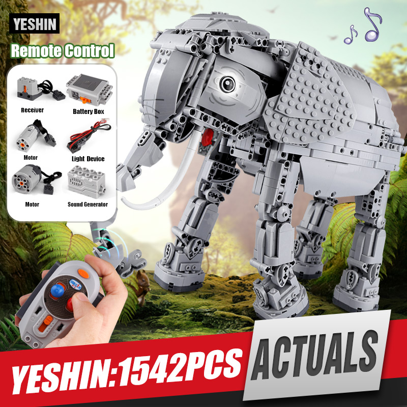 DHL Yeshin 7107 Star Toys Wars The Remote Control Elephant Set Creative Building Blocks Bricks Electric