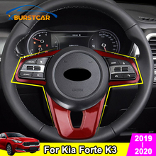 Xburstcar Auto for Kia Forte K3 2019 2020 ABS Car Steering Wheel Buttons Protection Cover Trim Accessories