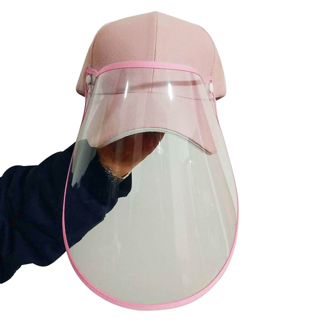 Hot AD-Face Shield Protective Baseball Cap for Anti-Fog Saliva Sneeze Adjustable Shield Protection 1