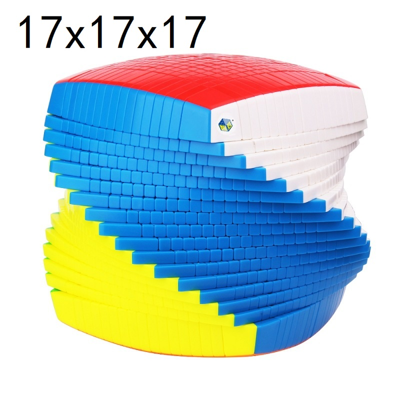 17x17 Yuxin Huanglong 17x17x17 Magic Cube 17 Layers Speed Puzzle High Layers Neo Cubo Magico 17 Layers Big Collection Magic Cube