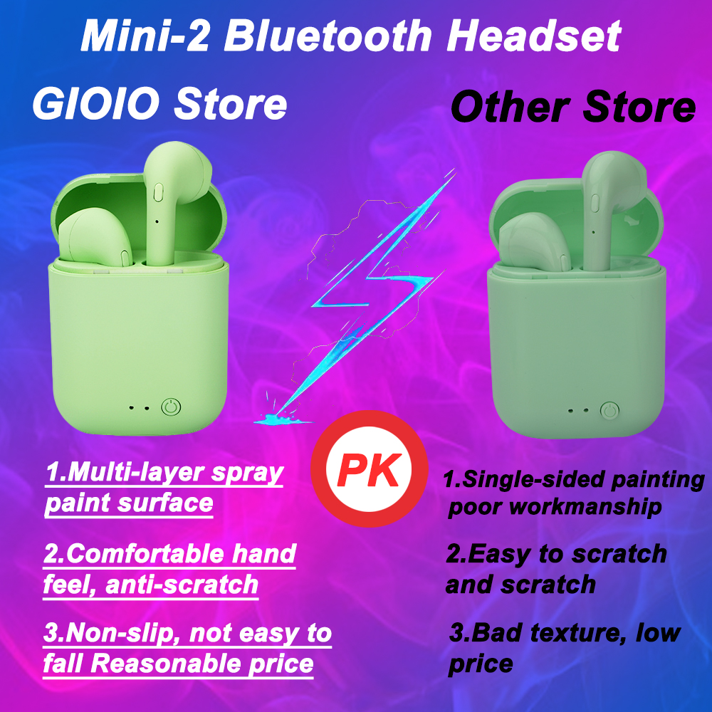 Welcome to GIOIO store, a very cost-effective Bluetooth headset, I wish you a happy shopping~Model:…