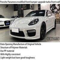 Montaż samochodowy do Porsche Panamera zmodyfikowany przód zderzak upgrade turbo przednia ściana wysokiej jakości i piękna ozdoba w Panele drzwiowe i ościeżnice od Samochody i motocykle na