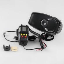 цена на Tone Sound Car Emergency Siren Car Siren Horn Speaker System Emergency Amplifier Hooter 12V 100W High Decibel Siren Horn