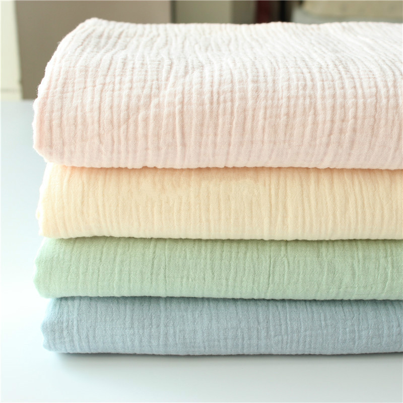 DIY Sewing Sleepwear Bedding Home Textile Fabric Material For Patchwork Printed Cotton Crepe 100% Cotton For Baby Pure Color