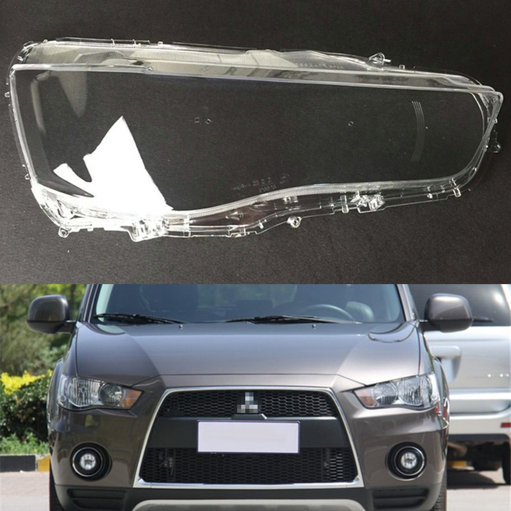 For Mitsubishi Outlander 2010 2011 Headlight Cover Car Headlamp Lens Replacement Clear Glass Auto Shell Cover
