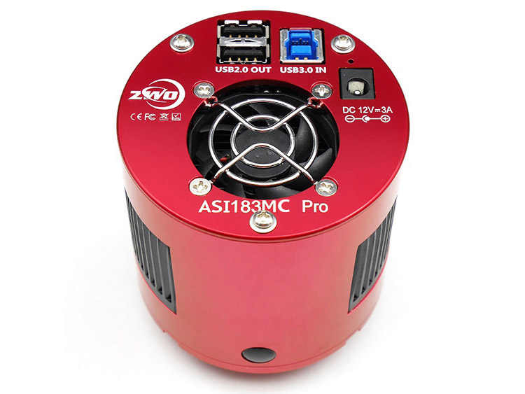 Цветная астрономическая камера ZWO ASI183MC Pro ASI Планетарная Солнечная Лунная видеосъемка/высокоскоростная USB3.0 ASI183 MC Pro ASI 183MC Pro