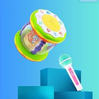Rotating Rotary Light Musical Toys Hand Clapping Drum Early Educational Children Collection Gift 95AE