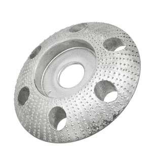 Image 4 - 110mm Tungsten Carbide Wood Shaping Disc Round Carving Disc with Hole 22mm Bore Sanding Grinder Wheel for 115 125 Angle Grinder