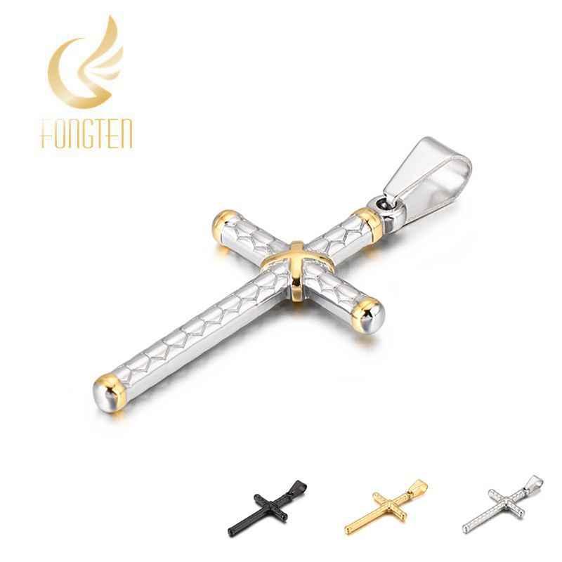 40*22 мм Круз мужское серебряное ожерелье с подвеской/золото/черный