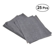 25sheets/bag Transfer Paper Tracing Paper Graphite Carbon Paper Painting Carbon Coated Paper (Gray and Black)